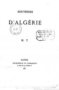 Souvenirs d'Algérie_Maurice Taconet_Mai 1885_couv.jpg