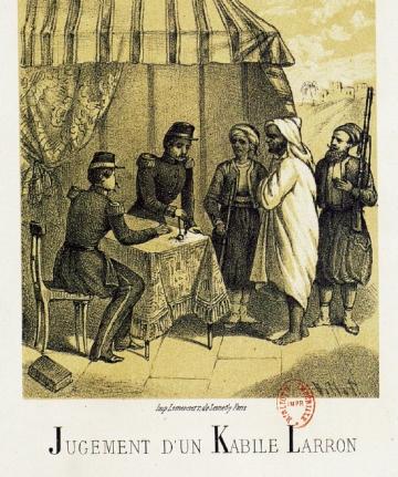 Alphabet_Les Militaires en action_Jugement d'un Kabyle larron.jpg