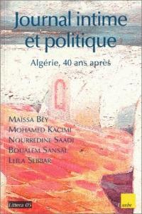 Collectif_Journal intime et politique_Algérie, 40 ans après_couv.jpg